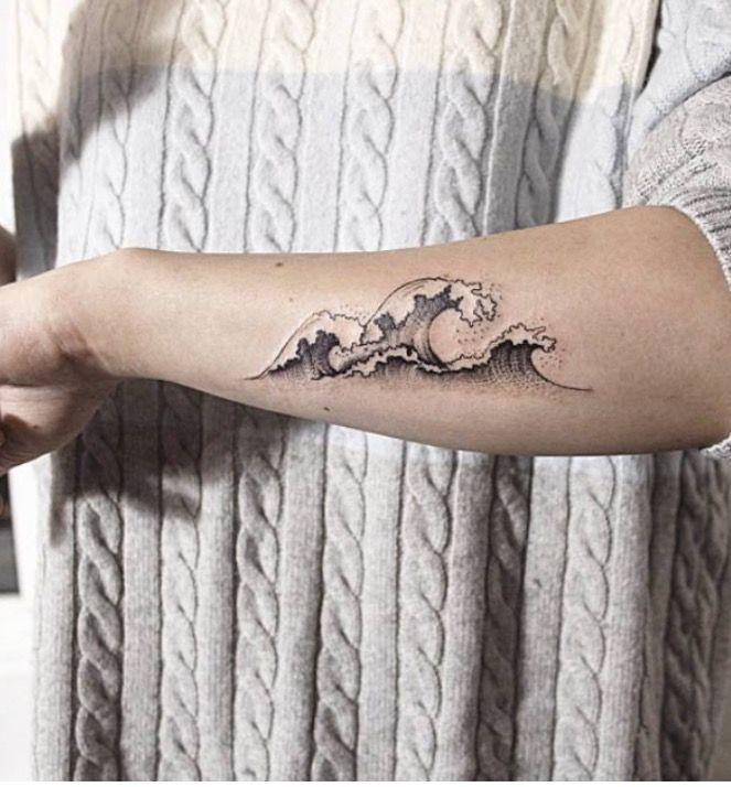 wave tattoo VIII