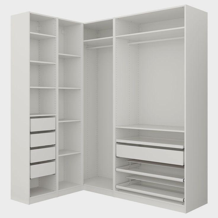 Pax Corner Wardrobe White 63 1 8 73 7 8x93 1 8 Eckkleiderschrank Pax Eckschrank Und Kleiderschrank Ohne Turen