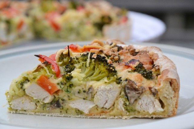 Hartige taart: Broccoli & Kip