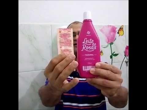 como fiz para tirar manchas da pele cravos e epinhas com leite de Rosa e AAs - YouTube