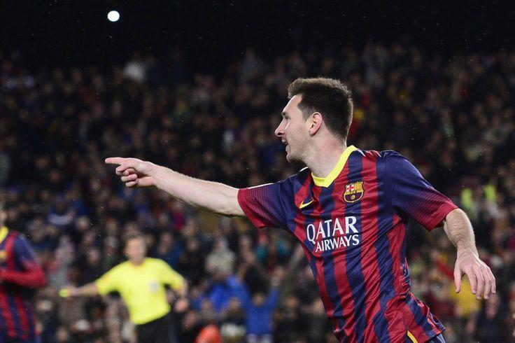 Lionel Messi celebra el 2-0