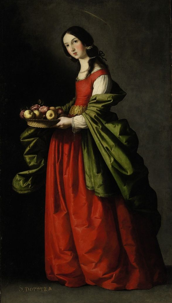 Saint Dorothy by Francisco De Zurbaran,1640-1650