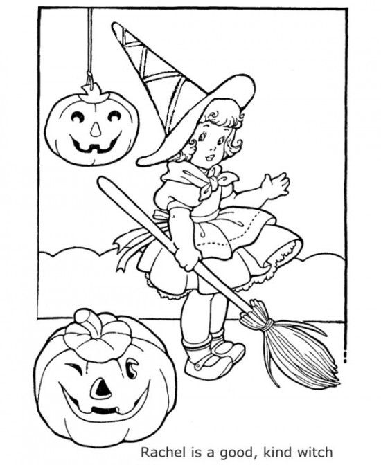Printable Witch Of Halloween Coloring Sheets Free For Kids Picture 14 550x672