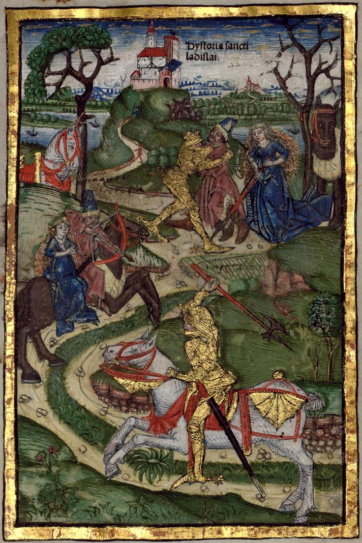The Saint Ladislaus legend in the 'Chronica Hungarorum' of Thuróczy János, 1488