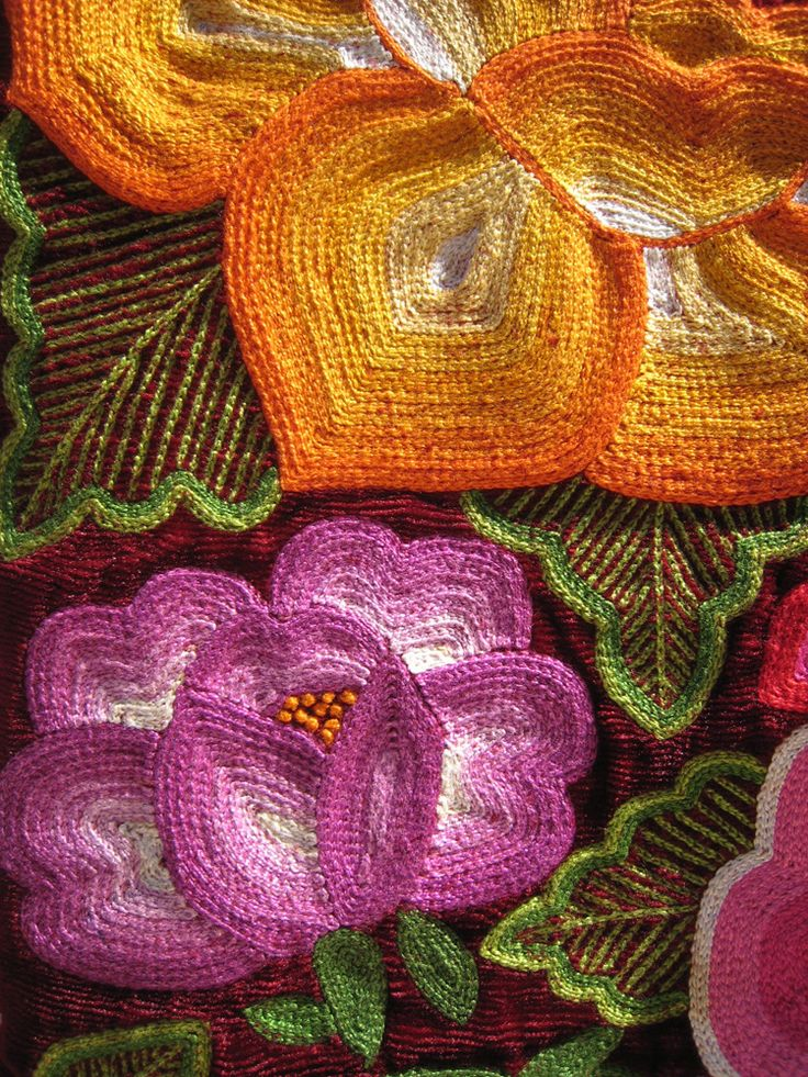 Typical embroidery found in Oaxaca