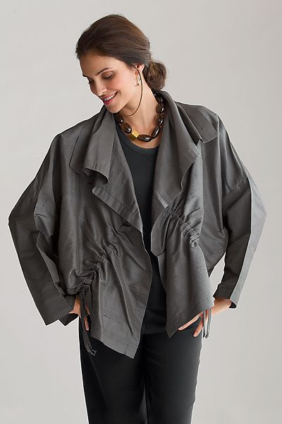 Dupioni drawstring jacket by Planet clothing from Artful Home
