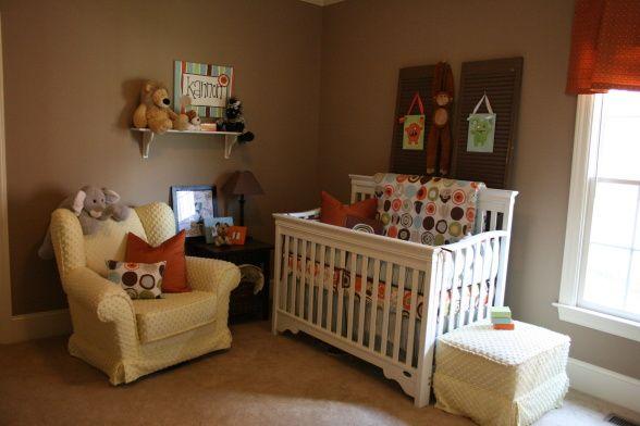 cute baby boys room. target bedding.