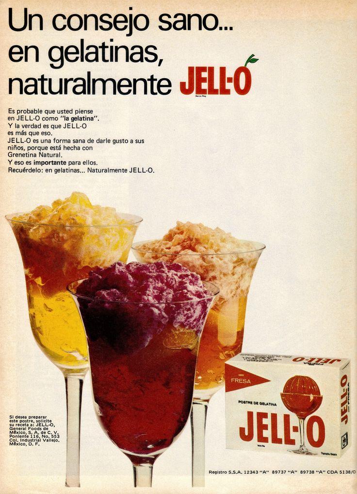 Publicidad gelatinas jell o m xico a os 70s publicidad mexicana 70s pinterest - Carteles publicitarios originales ...