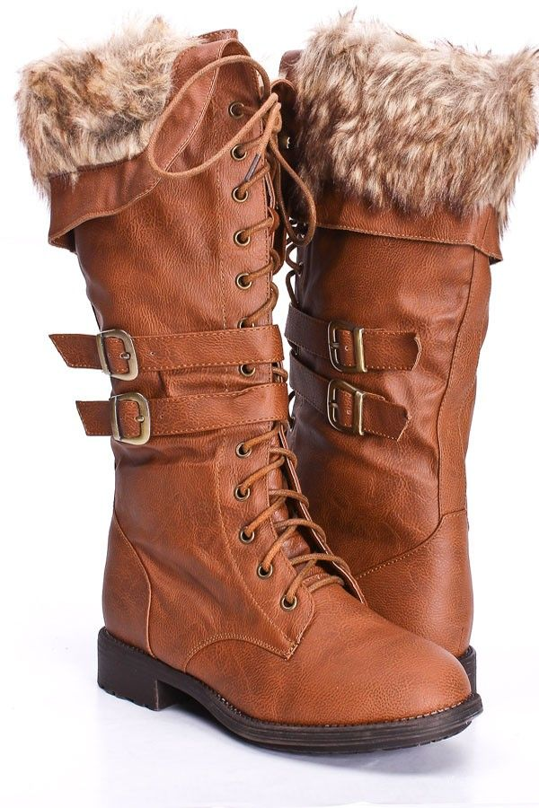 faux leather hunting-inspired boots