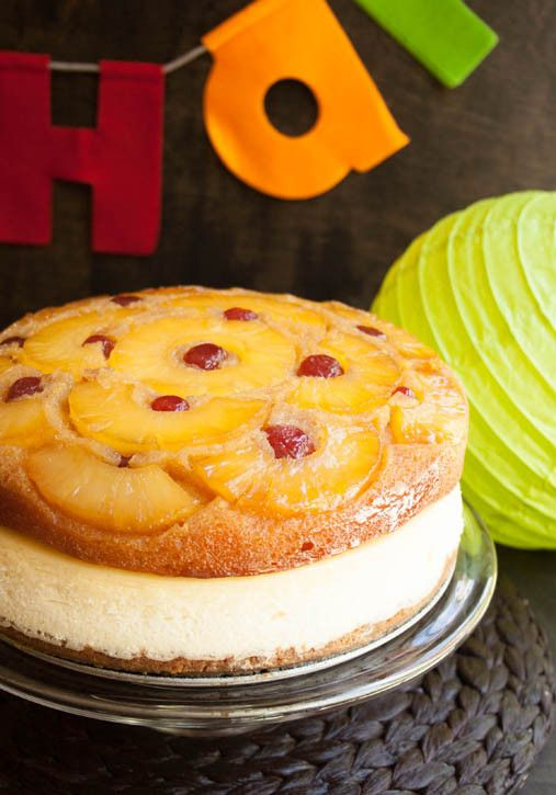 Pineapple Upside Down Cheesecake Cake - The Merchant Baker