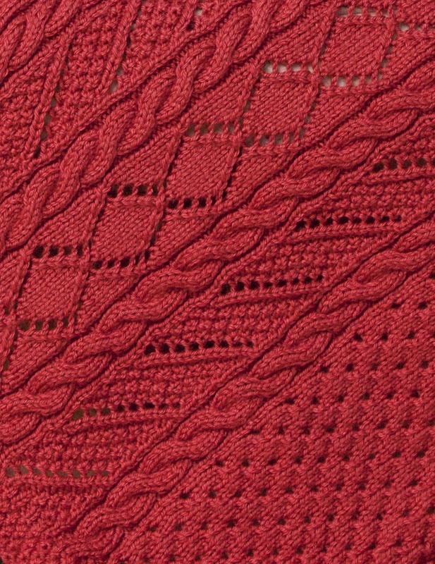 Free Knitting Patterns Lace Panels : Caron International Free Project Lace Panel Throw ...