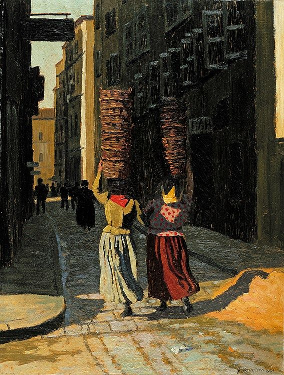 "Félix Vallotton (Swiss, 1865–1925) ""Women carrying baskets in Marseille"", 1901"