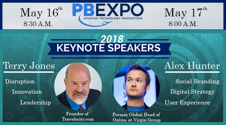 Our #keynote #speakers for #PBExpo 2018. PBExpo will cover #aviation #technology #ecommerce and more! Don't miss out! Email me srivera@partsbase.com for more info!