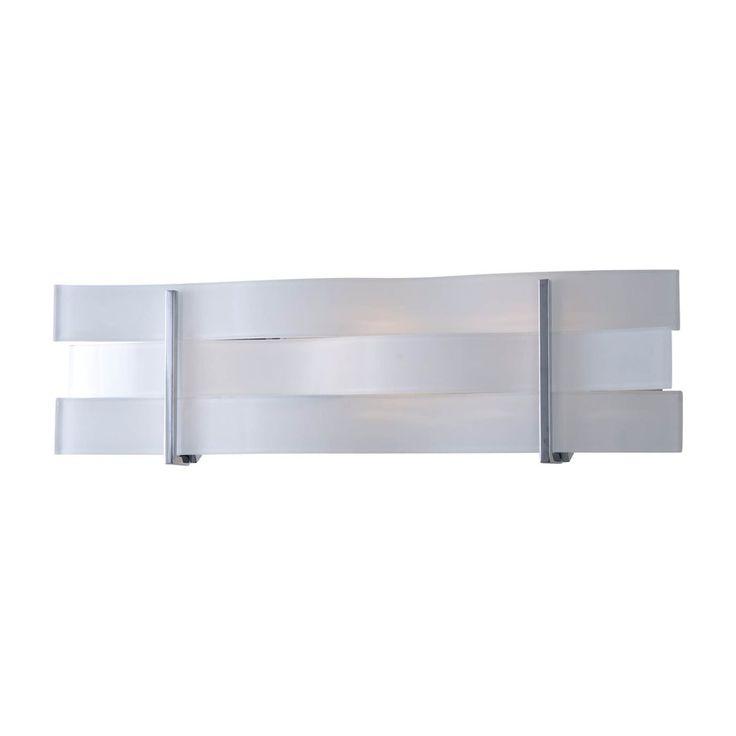 DVI 1-Light Tides Chrome/Graphite Bathroom Vanity Light