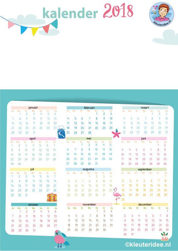 kleuters maken een kalender, kleuteridee, free printable