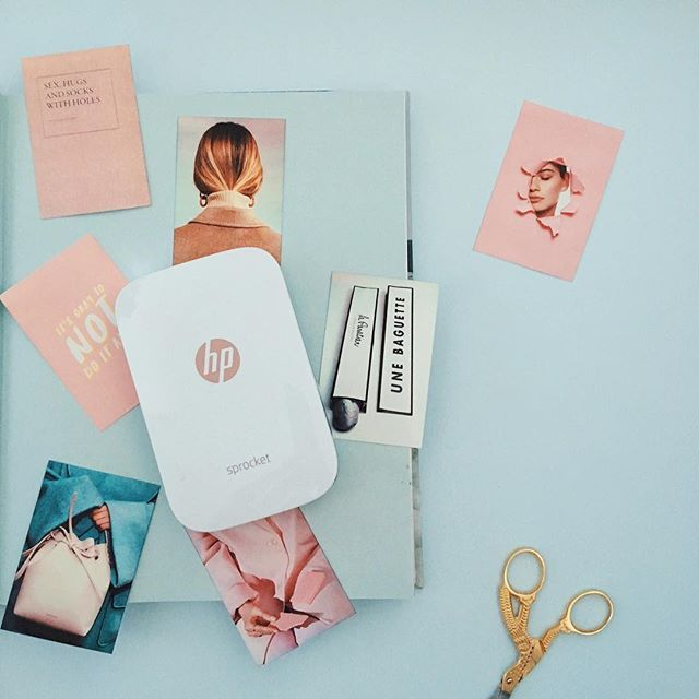 So at the moment I'm planning a bit of a blog redesign (eek) and it's so useful being able to print some inspiration snaps anywhere using my @HP sprocket to make some mood boards! It's making me very excited... #reinventmemories #ad