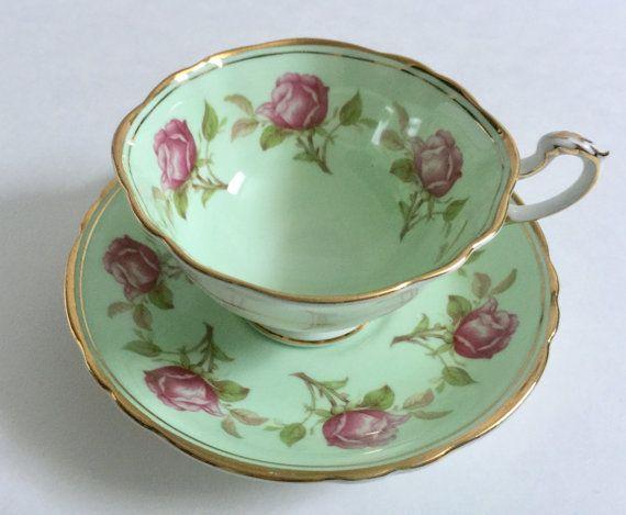 Pink Rose Paragon China Tea cup and Saucer Teacup Set