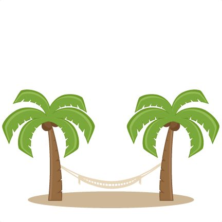 Palm Trees With Hammock SVG Scrapbook Cut File Cute Clipart Files For Silhouette Cricut Pazzles Free Svgs Svg Cuts