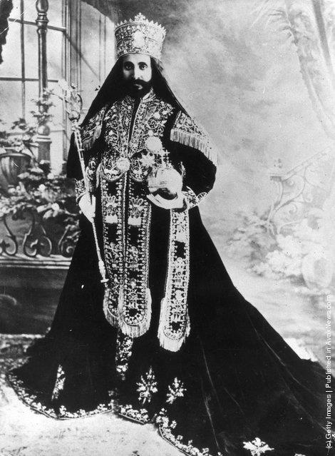 King of Ethiopia - Haile Selassie I - Africa's last Emperor. Center of Rastafari faith.