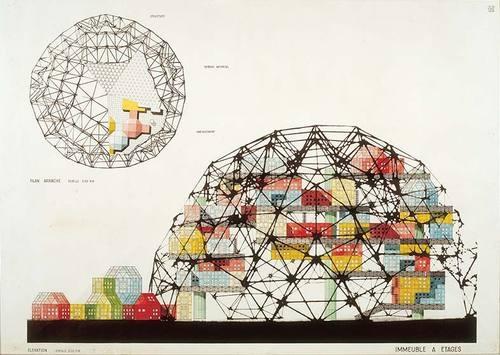 David Georges Emmerich, Coupoles stéréométriques, 1958-1960. Collection FRAC Centre, Orléans, France.