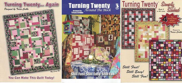 Turning Twenty Quilt Patterns Lot of 3 Books Tricia Cribbs Book #2 #3 #5  #TurningTwenty