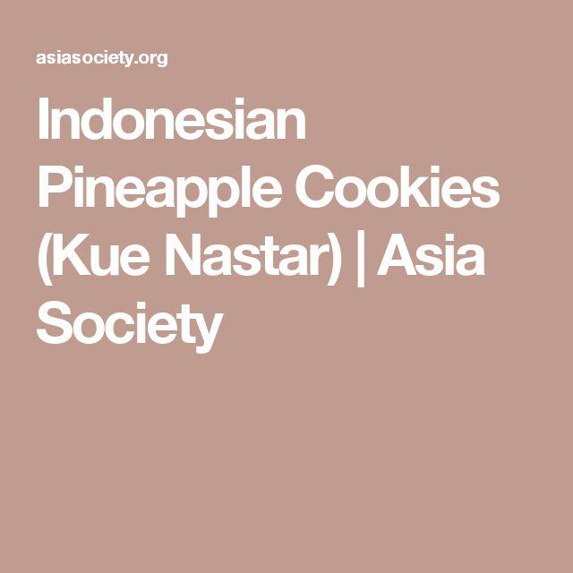 Indonesian Pineapple Cookies (Kue Nastar) | Asia Society