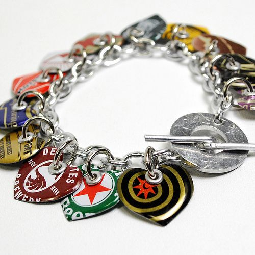Recycled Jewelry Charm Bracelet   Flickr - Photo Sharing!
