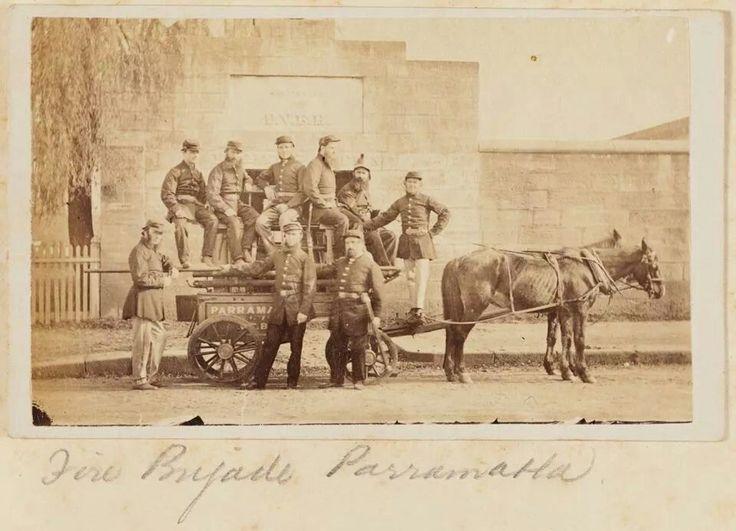 Parramatta,NSW, fire brigade in 1870. History Parramatta NSW
