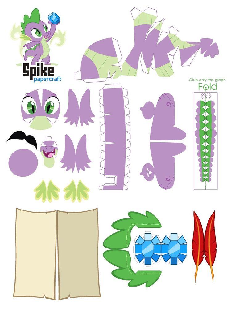Spike Papercraft pattern by *Kna on deviantART