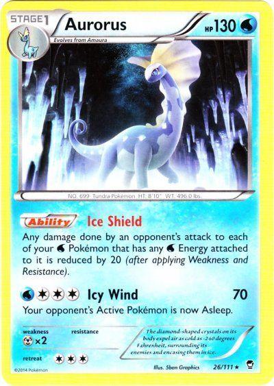 Pokemon X & Y Furious Fists Rare Aurorus #26