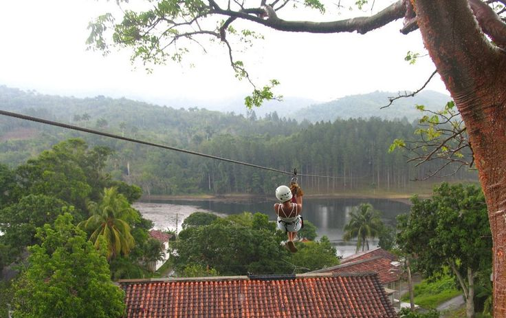 Canopy adventure tours in Las Terrazas, Cuba. Cuba website - http://Cubatravelnow.net