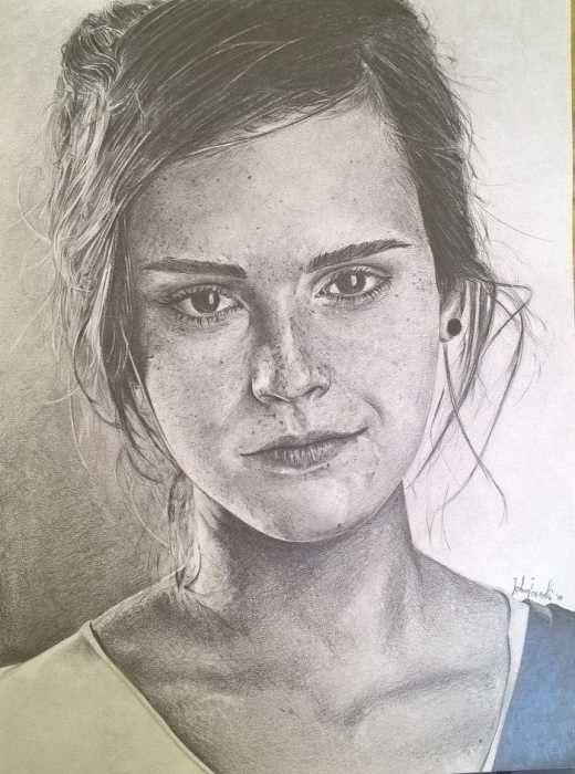 Emma Watson drawing