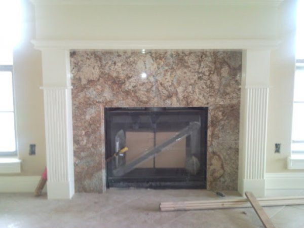 Here's a granite fireplace surround without a hearth. Description from  fireplacepictures.org. I - 25+ Best Ideas About Granite Fireplace On Pinterest Stacked Rock