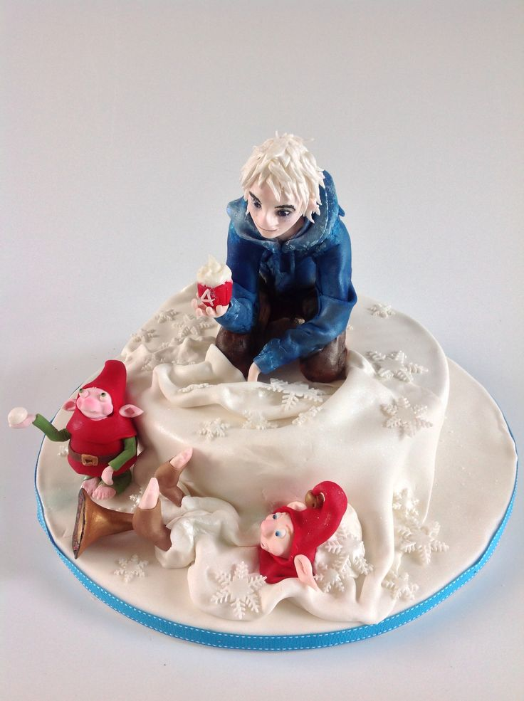Jack Frost cake (from Rise of the Guardians) for Ruby's 4th birthday. Jack Frost figure design by the very talented Fernanda Arbaca.