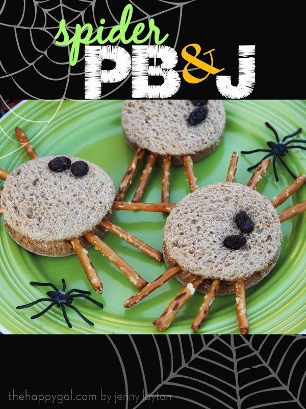 Spider PB+J sandwiches.