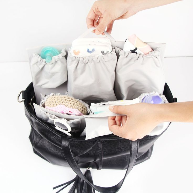 Our organizer insert turns any handbag, tote or backpack into an organized diaper bag. Find us on Instagram! @totesavvy