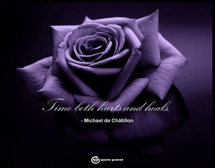 Time both hurts and heals. - Michael de Châtillon