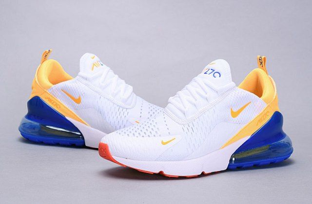Nike Air Max 270 Flyknit Phillippines White Yellow Blue Ah6789