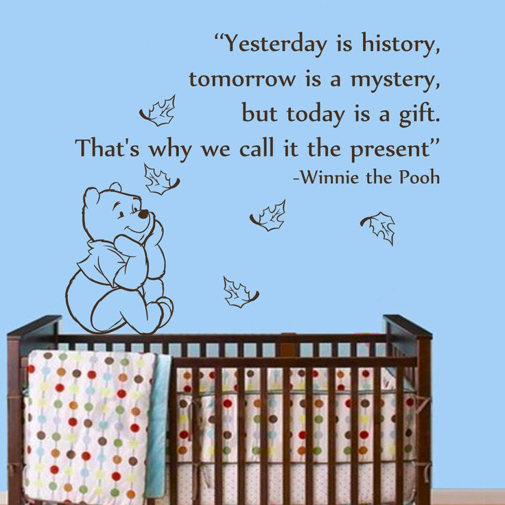 Winnie The Pooh Owl Quotes: Wall Decal Quotes Winnie The Pooh Yesterday Is History