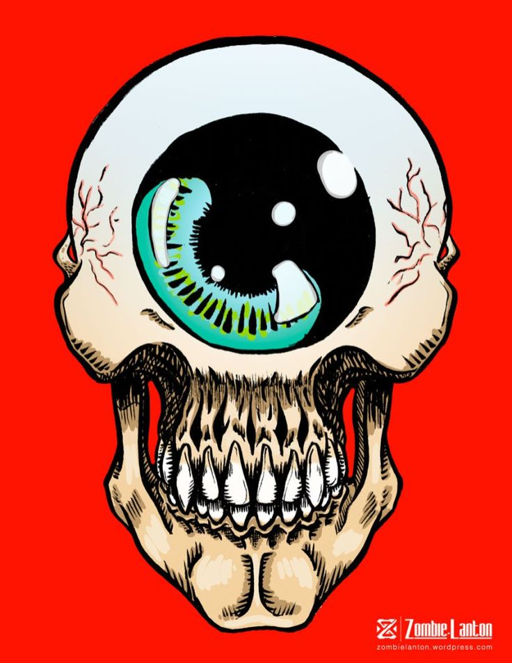 Ojo Cráneo Color