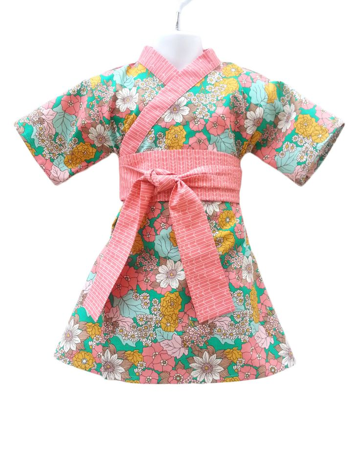 Kimono Dress in DAISY GARDEN Yukata Modern Kimono Girls