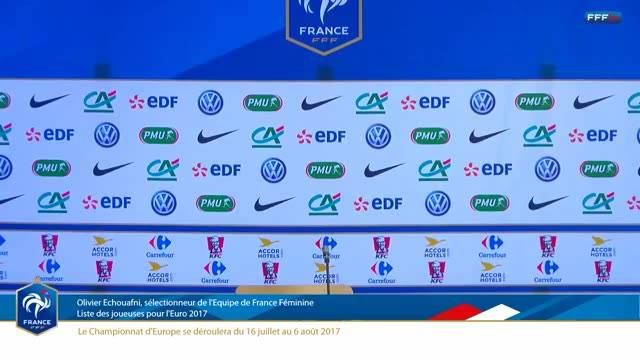Suivez en direct depuis le siège d'EDF l'annonce de liste des joueuses retenues pour l'Euro 2017 par Olivier Echouafni!