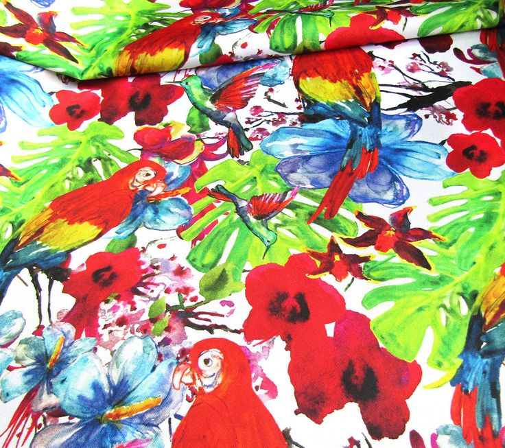 Waterproof Fabric -   Colorful Tropical Design  - Oilcloth Fabric - PVC fabric by half meter Sold by FQ Half Meter
