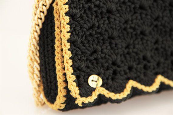 Pochette nera e oro by AnnAltamuraCreazioni on Etsy