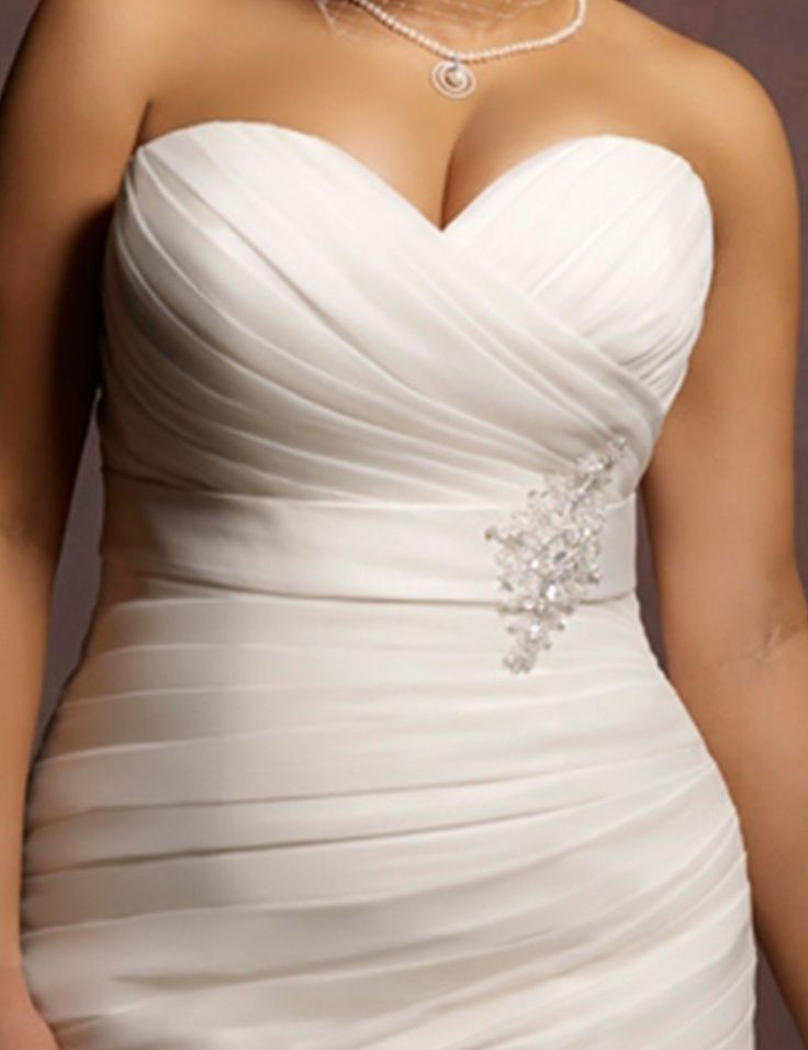 Trending Plus Size Mermaid Style Ruched Ruffled Trumpet Wedding Dress Autumn Collection