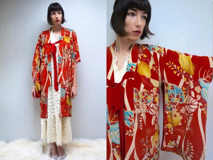 Japanese Kimono Robe  // Silk Kimono Robe  // Silk Short Kimono Robe  // Kimono Robe  // Festival Jacket  //  Japanese Robe  //  THE OBI