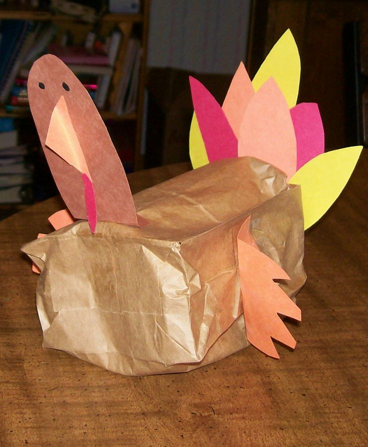 how to make a hand turkey out of construction paper
