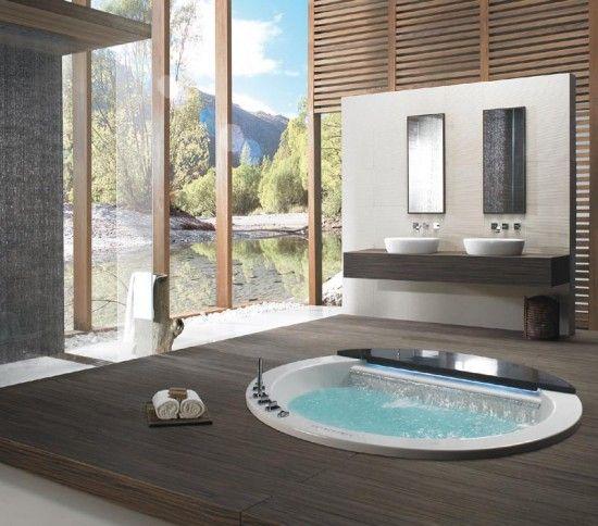 Elliptical form TAKIYU Whirpool Bathtubs Japanese tradition in Modern Bathroom