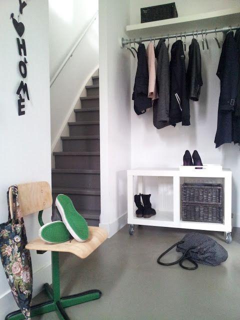 11 beste afbeeldingen over hal op pinterest slaapkamers gangen en nederlands - Opslag voor dressing ...