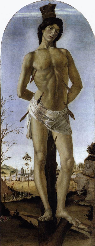 St Sebastian by Sandro Botticelli, 1474